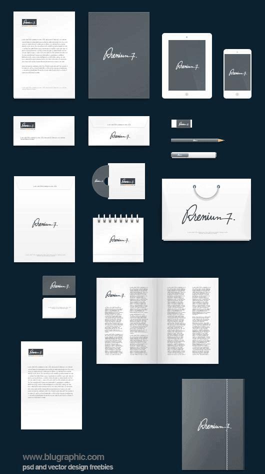 Complete Corporate Branding Mockup Scene Template
