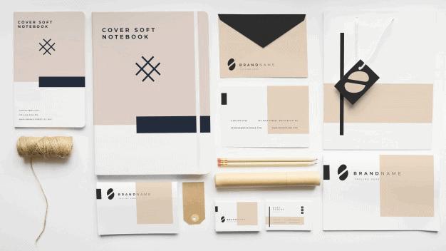 Elegant Pastel & Black Branding Mockup Template