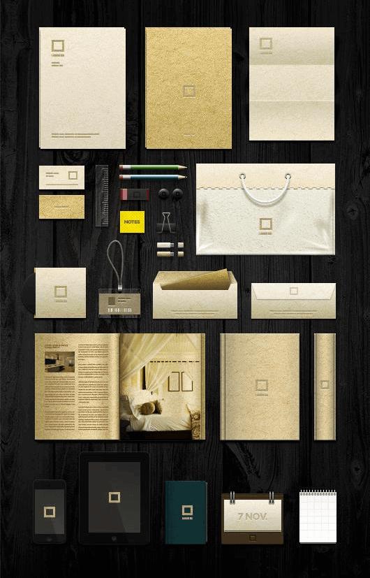 Golden Elegant Branding Mockup Template