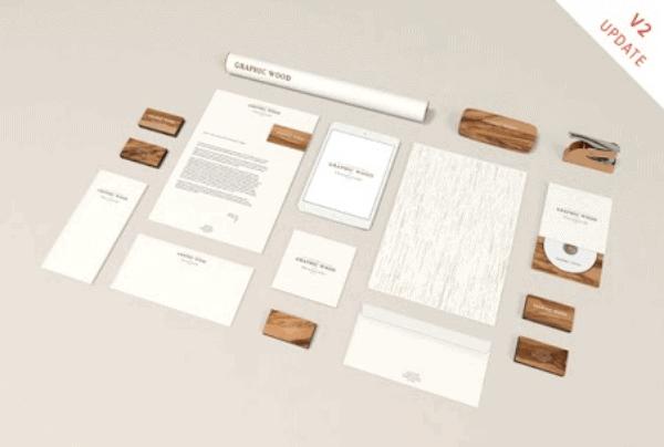 Modern Wood Branding Mockup Template